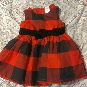 Carters Infant Buffalo Plaid Red Jumper/ Dress